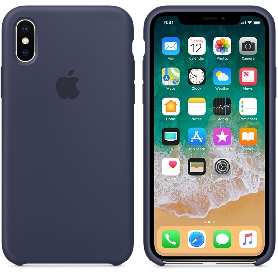 iPhone X/Xs Silicone Case - Midnight Blue - 1
