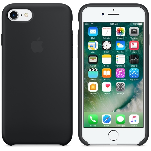 iPhone 7/8 Silicone Case - Black - 1