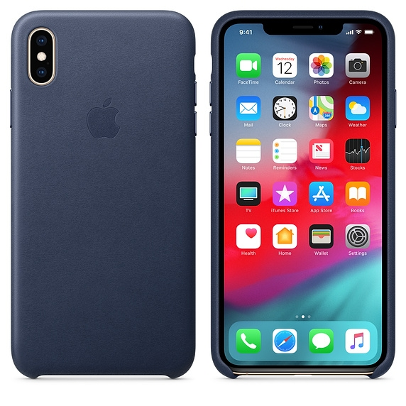iPhone XS Max Leather Case - Midnight Blue - 1