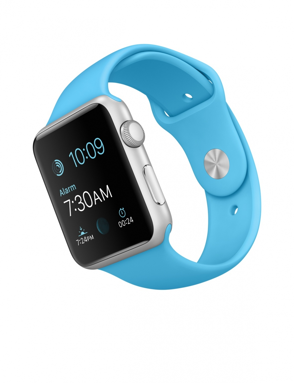 Apple Watch Sport 42mm Silver Aluminum Case  with Blue Sport Band MLC52 - 2