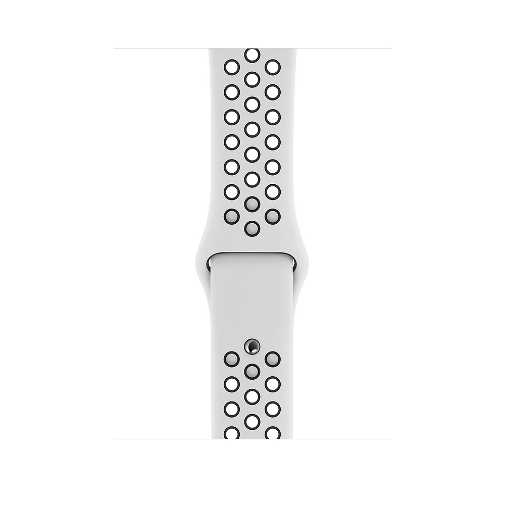 Apple Watch Nike+ Series 4 (GPS) 40mm Silver Aluminum Case with Pure Platinum/Black Nike Sport Band (MU6H2) - 2