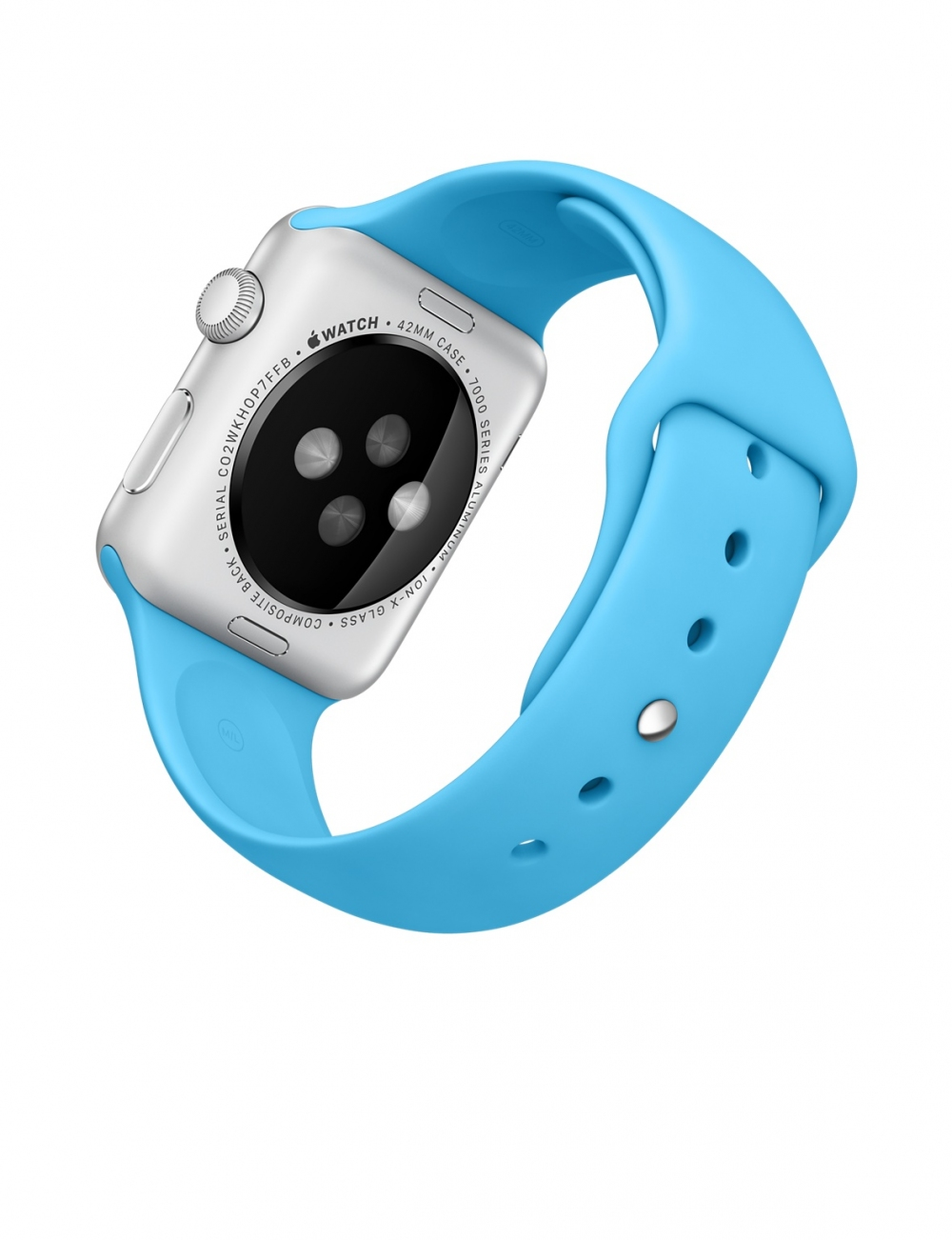 Apple Watch Sport 42mm Silver Aluminum Case  with Blue Sport Band MLC52 - 3
