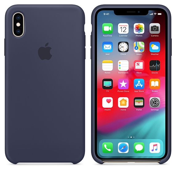 iPhone XS Max Silicone Case - Midnight Blue - 1