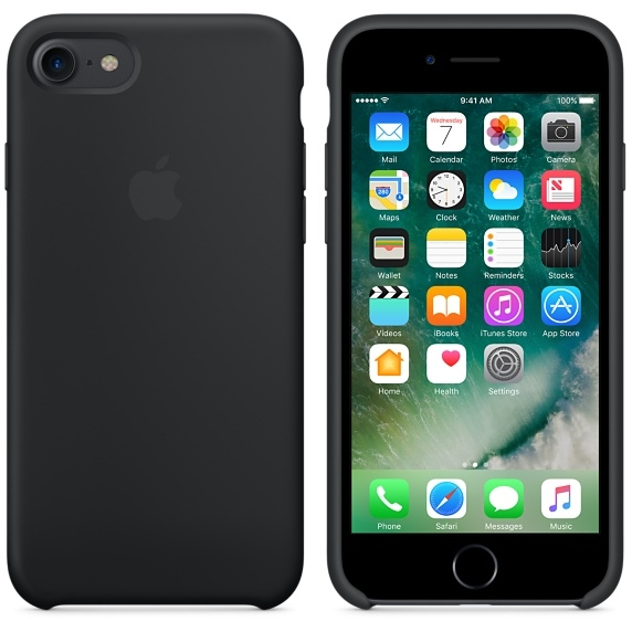 iPhone 7/8 Silicone Case - Black - 2