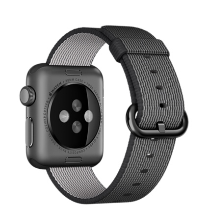Apple Watch Sport 38mm Space Gray Aluminum Case with Black Woven Nylon MMF62 - 3