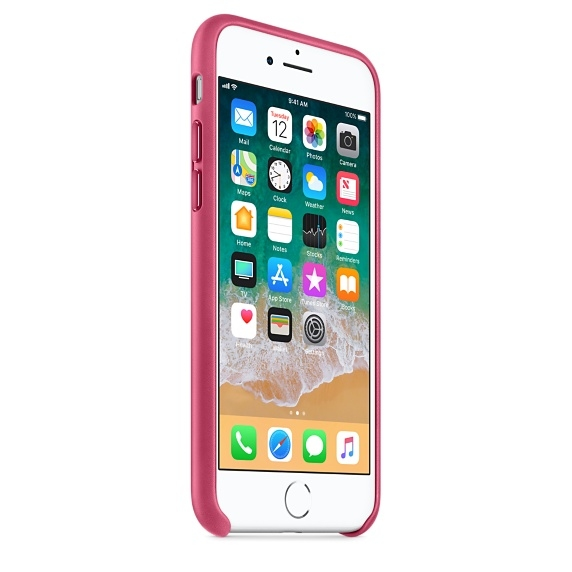 iPhone 7/8 Leather Case - Pink Fuchsia - 3