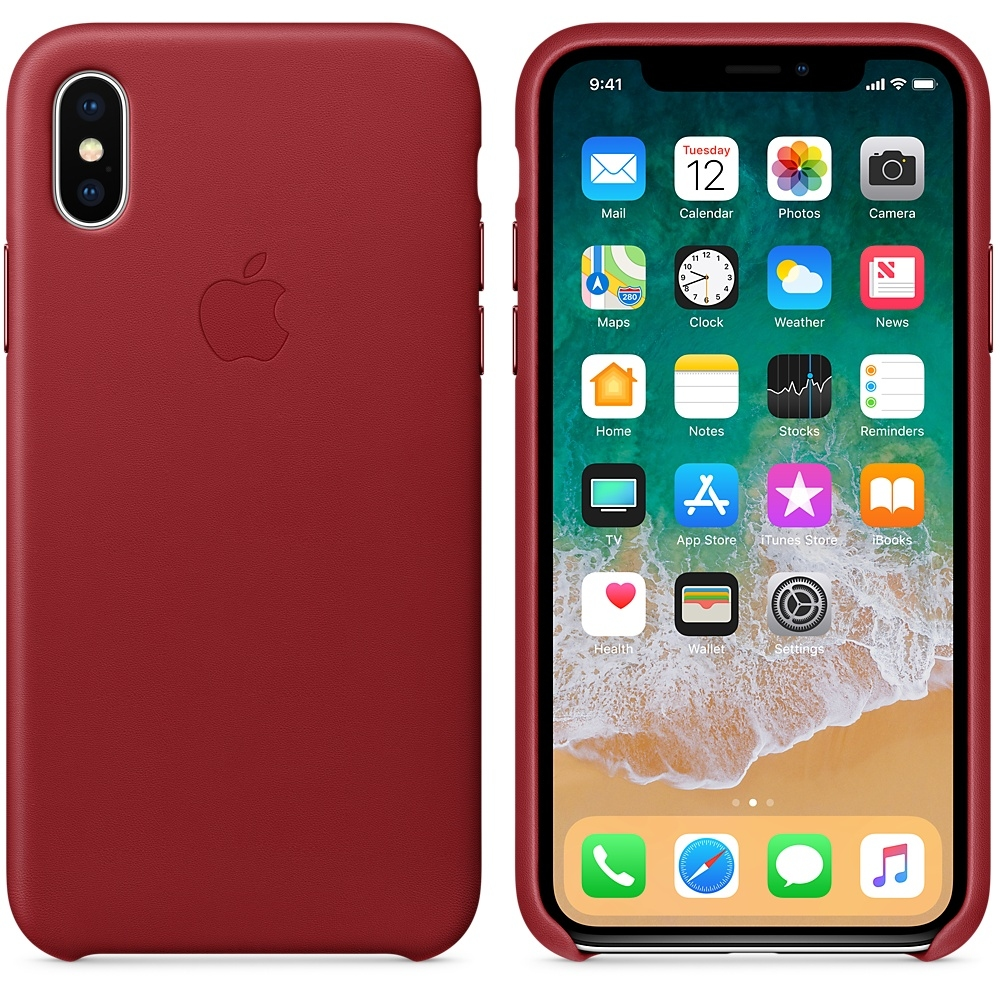 iPhone X Leather Case - (PRODUCT)RED - 1