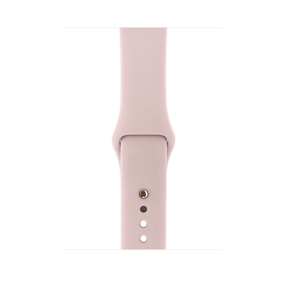 Apple Watch (GPS) 38mm Gold Aluminum Case with Pink Sand Sport Band MQKW2 - 2