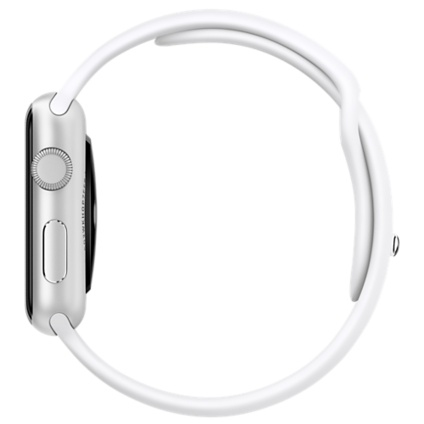 Apple Watch Sport 42mm Silver Aluminum Case with White Sport Band MJ3N2 - 2
