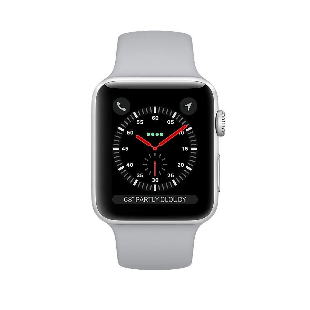 Apple Watch GPS + Cellular 42mm Silver Aluminum Case with Fog Sport Band MQK12 - 1