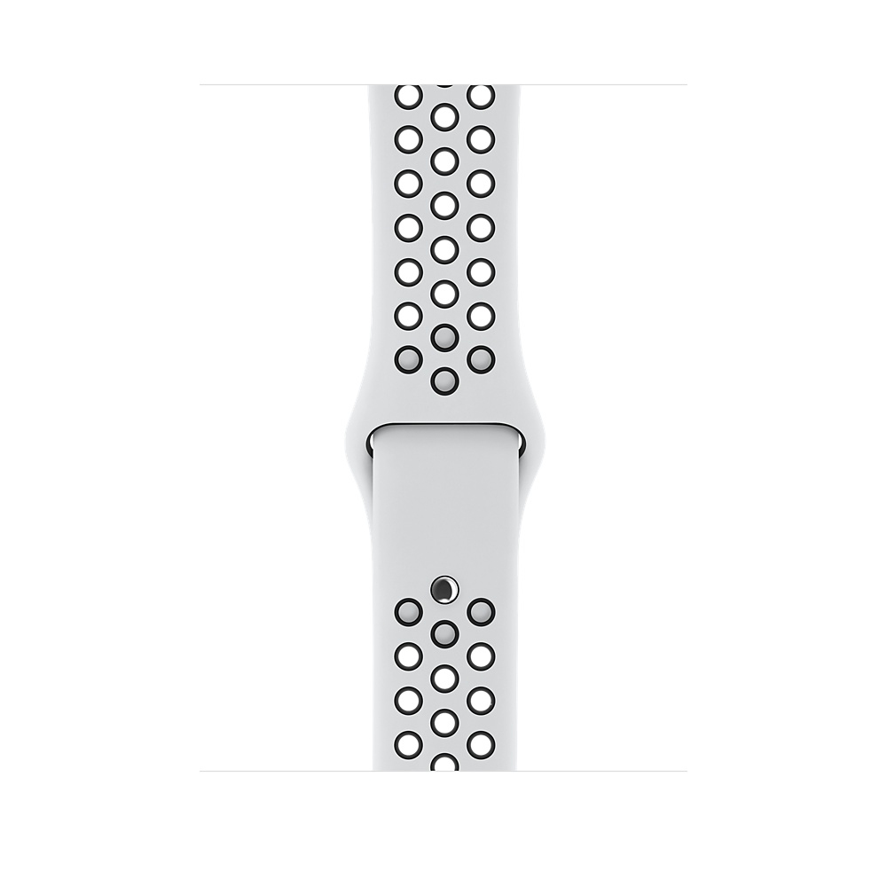 Apple Watch Nike+ GPS + Cellular 42mm Silver Aluminum Case with Pure Platinum/Black Sport Band MQLC2 - 2