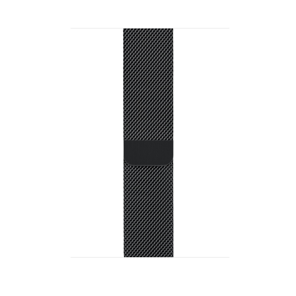 Apple Watch GPS + Cellular 38mm Stainless Steel Case with Space Black Milanese Loop MR1H2 - 2