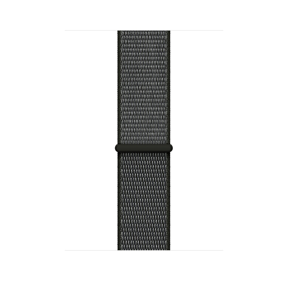 Apple Watch GPS + Cellular 38mm Space Gray Aluminum Case with Dark Olive Sport Loop MQJT2 - 2