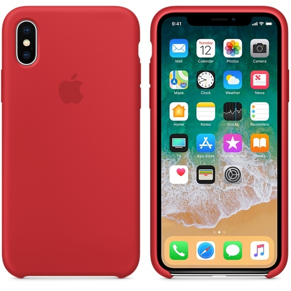 iPhone X Silicone Case - (PRODUCT)RED - 1
