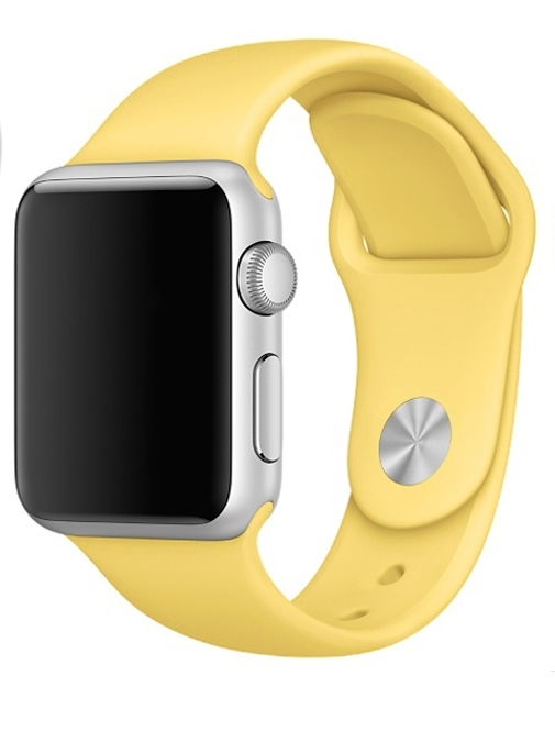 Ремешок Silicone Light Yellow Band for Apple Watch 42mm - 1