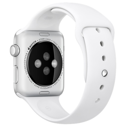 Apple Watch Sport 42mm Silver Aluminum Case with White Sport Band MJ3N2 - 3