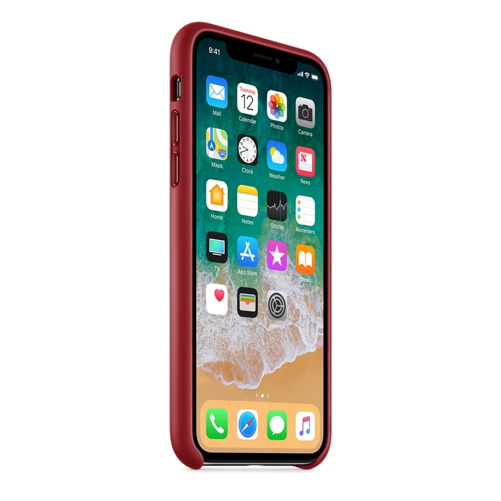 iPhone X Leather Case - (PRODUCT)RED - 2