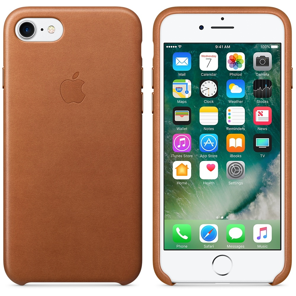 iPhone 7/8 Leather Case - Saddle Brown - 1