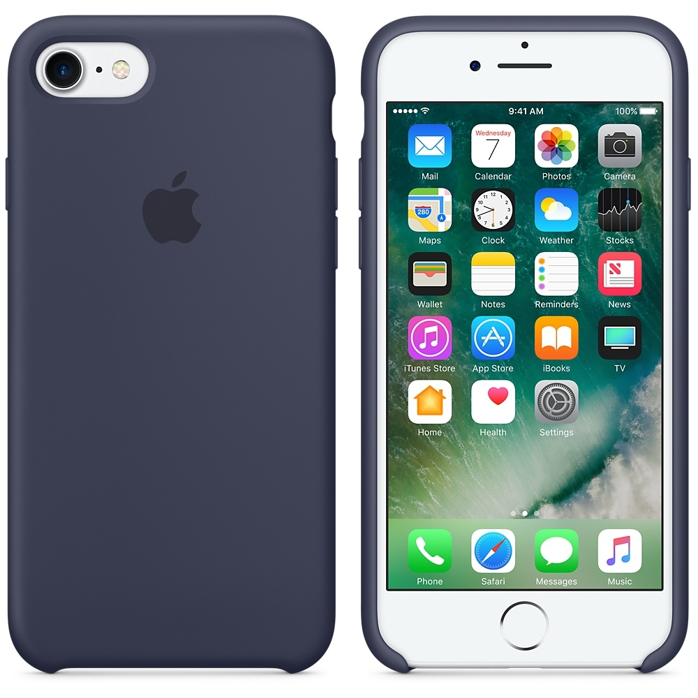 iPhone 7/8 Silicone Case - Midnight Blue - 1