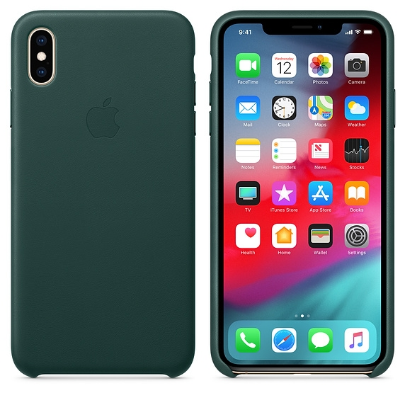 iPhone XS Max Leather Case - Forest Green - 1