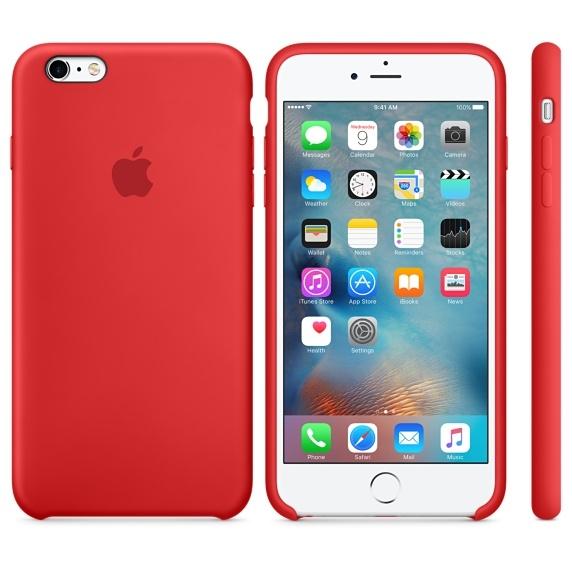 iPhone 6 Plus/6s Plus Silicone Case - (PRODUCT)RED - 1