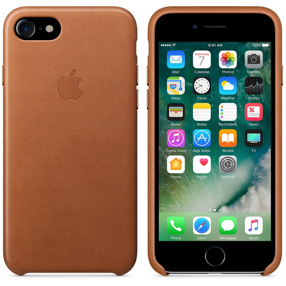 iPhone 7/8 Leather Case - Saddle Brown - 2