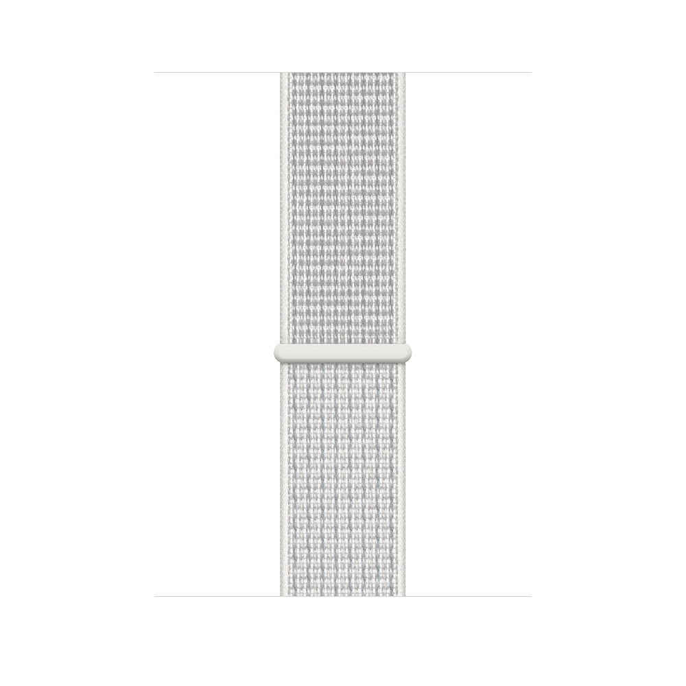 Apple Watch Nike+ Series 4 GPS + Cellular, 40mm Silver Aluminum Case with Summit White Nike Sport Loop (MTXF2) - 2