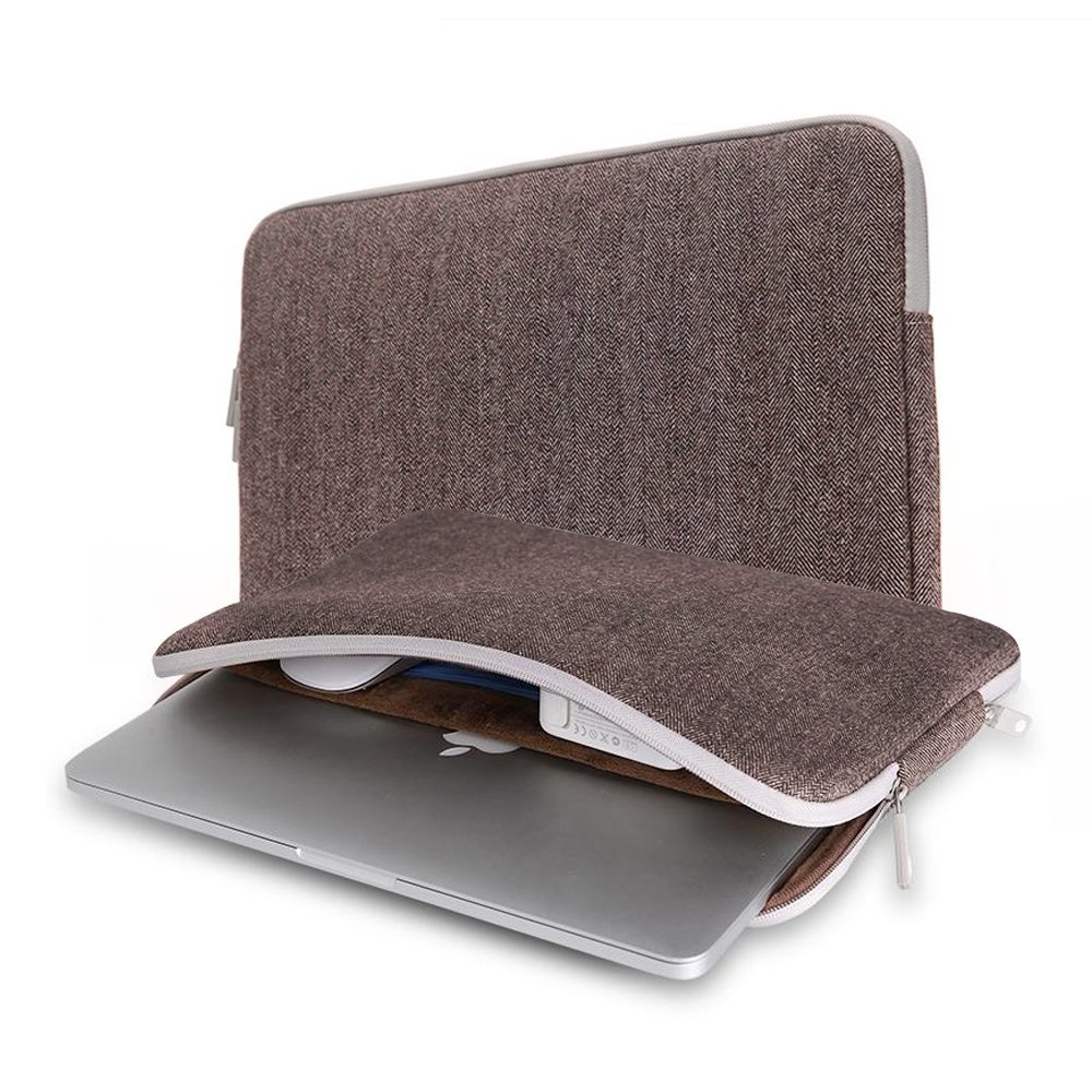 "Чехол-конверт WIWU Woolen Sleeve для MacBook 13,3"" Brown - 1"