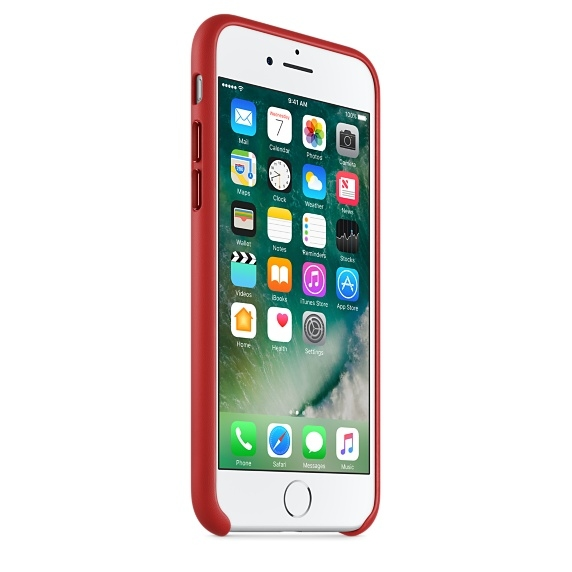 iPhone 7/8 Leather Case - (PRODUCT)RED - 3