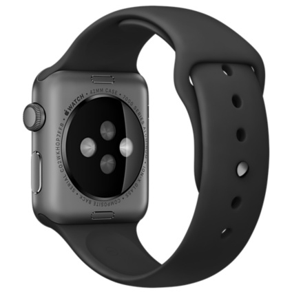 Apple Watch Sport 42mm Space Gray Aluminum Case with Black Sport Band MJ3T2 - 3