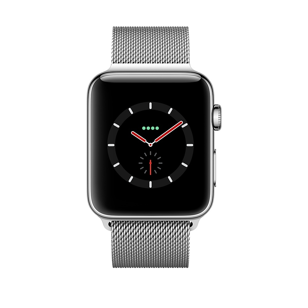 Apple Watch GPS + Cellular 38mm Stainless Steel Case with Milanese Loop MR1F2 - 1