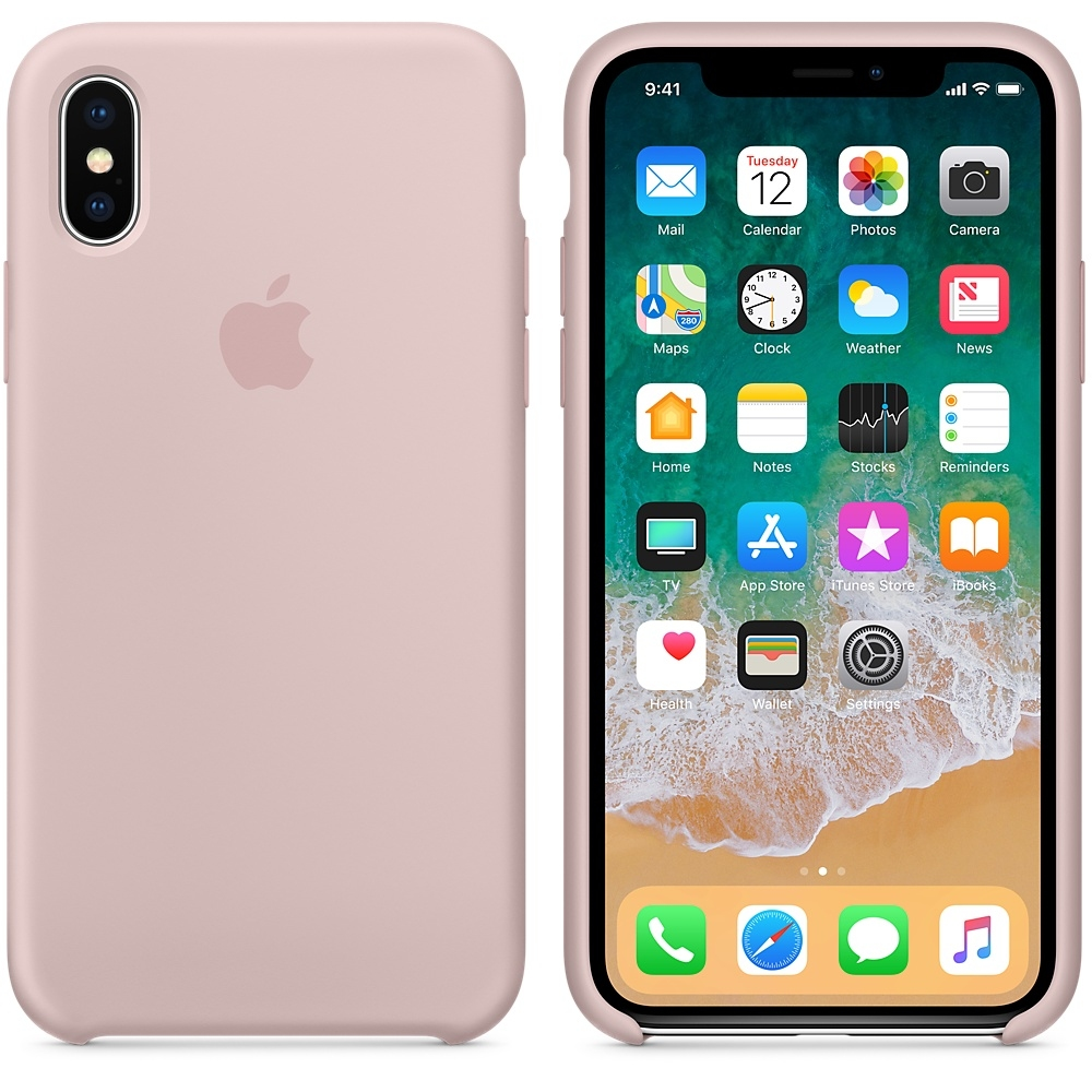 iPhone X\Xs Silicone Case - Pink Sand - 1