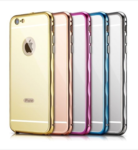 Бампер Xoomz Mirror Back Cover Case iPhone 6/6S Gold - 1
