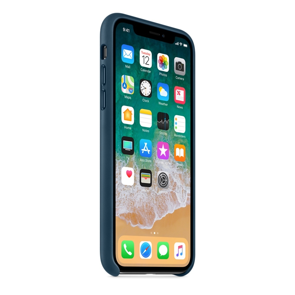 iPhone X\Xs Leather Case - Cosmos Blue - 2