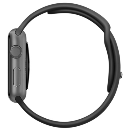 Apple Watch Sport 42mm Space Gray Aluminum Case with Black Sport Band MJ3T2 - 2