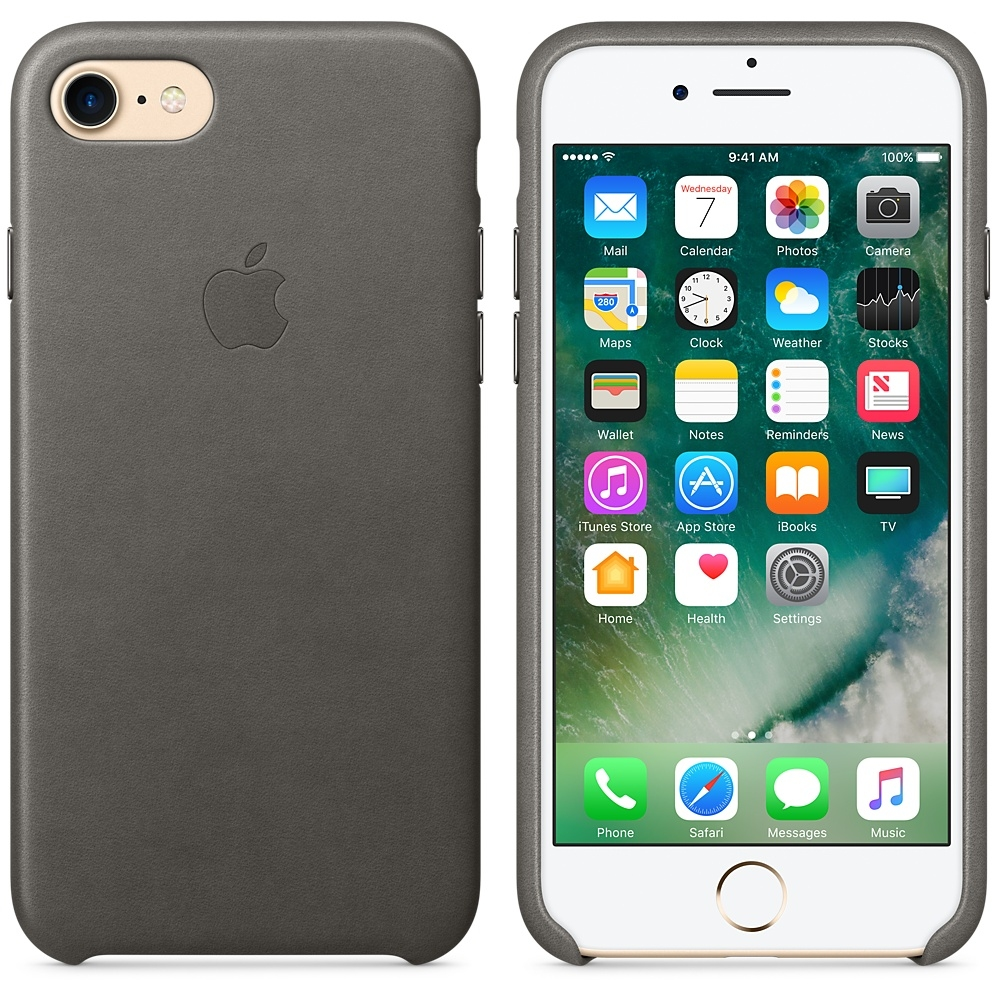 iPhone 7/8 Leather Case - Storm Gray - 1
