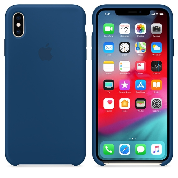 iPhone XS Max Silicone Case - Blue Horizon - 1