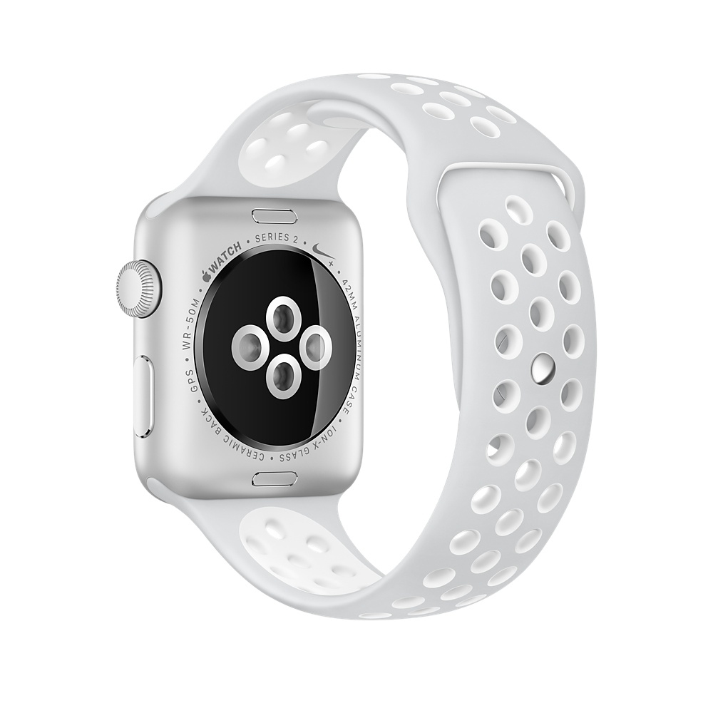 Apple Watch Nike+ 42 mm Silver Aluminum Case with Pure Platinum/White Nike Sport Band (MQ192) - 3