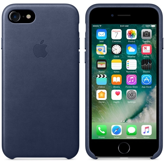 iPhone 7/8 Leather Case - Midnight Blue - 2