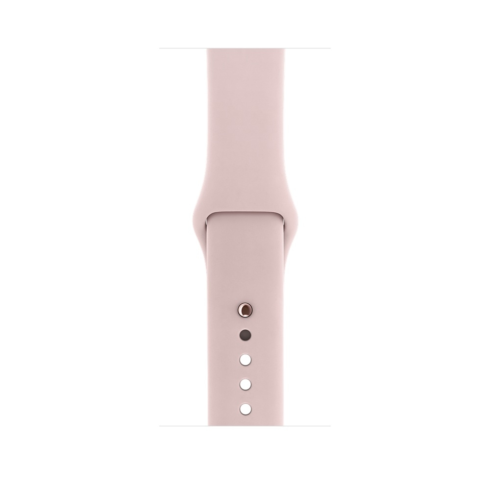 Apple Watch 42 mm Rose Gold Aluminum Case with Pink Sand Sport Band (MQ142) - 2