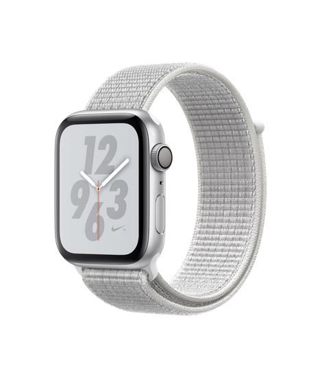 Apple Watch Nike+ Series 4 (GPS) 44mm Silver Aluminum Case with Summit White Nike Sport Loop (MU7H2)