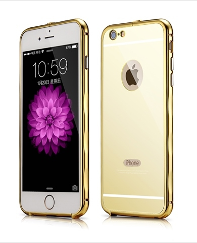 Bumper Xoomz Brushed Aluminium iPhone 6/6S Gold