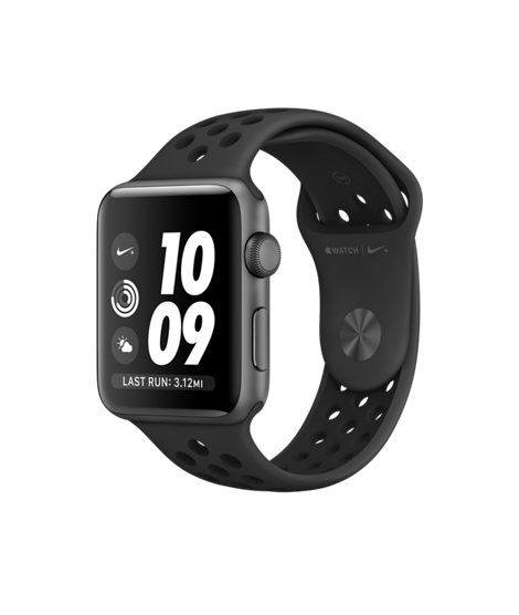 Apple Watch Nike+ 42 mm Space Gray Aluminum Case with Anthracite/Black Nike Sport Band (MQ182)