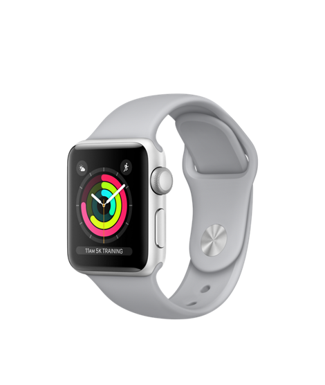 Apple Watch (GPS) 42mm Silver Aluminum Case with Fog Sport Band MQL02