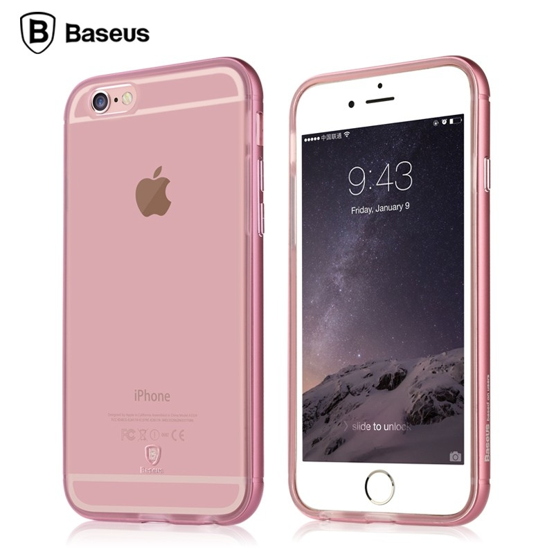 Baseus Golden Series For iPhone 6 Plus/6S Plus Transparent Rose gold