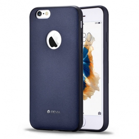 Devia original leather case for iPhone 6/6S Royal blue