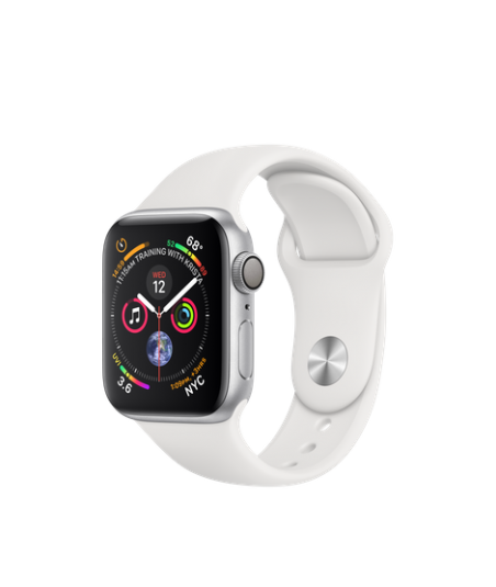 Apple Watch GPS 40mm Silver Aluminum Case with White Sport Band (MU642)