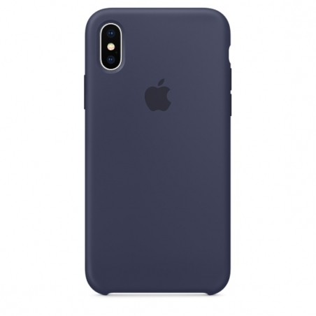 iPhone X/Xs Silicone Case - Midnight Blue