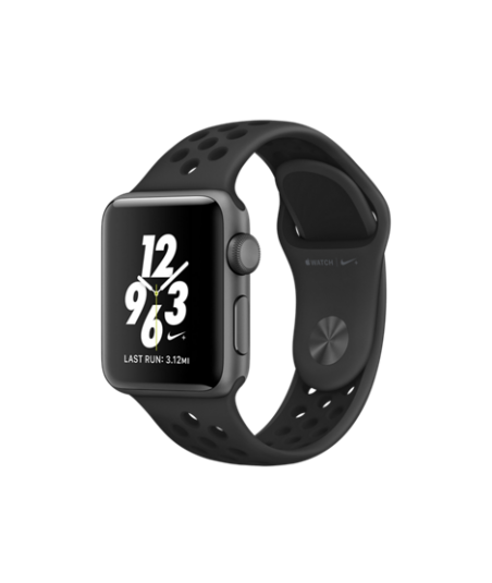 Apple Watch Nike+ 38 mm Space Gray Aluminum Case with Anthracite/Black Nike Sport Band (MQ162)