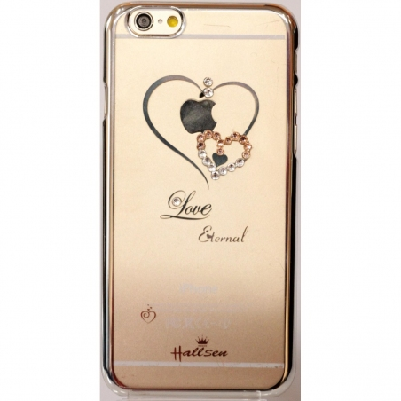 Hallsen Transparent Case Heart iPhone 5/5S/SE Silver